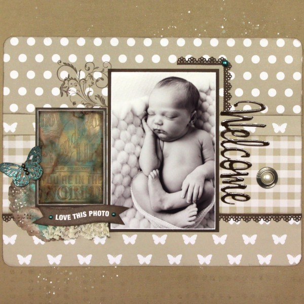Scrapbook Studio - Cariena - Welcome LPP Layout