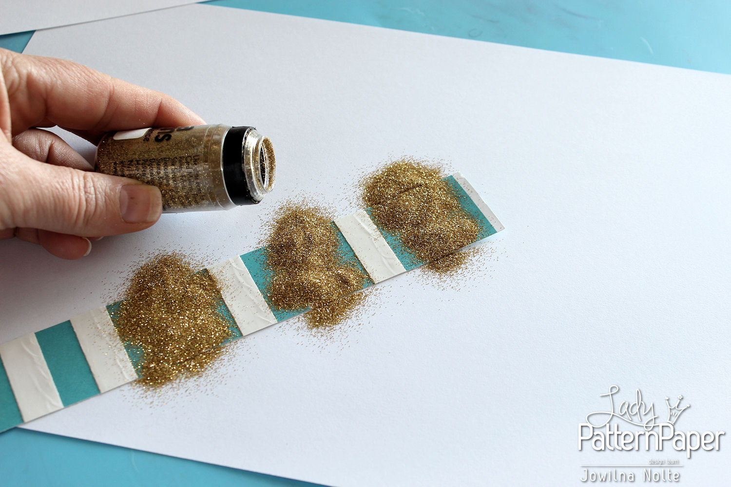 Altered Glitter Strips - Step 3