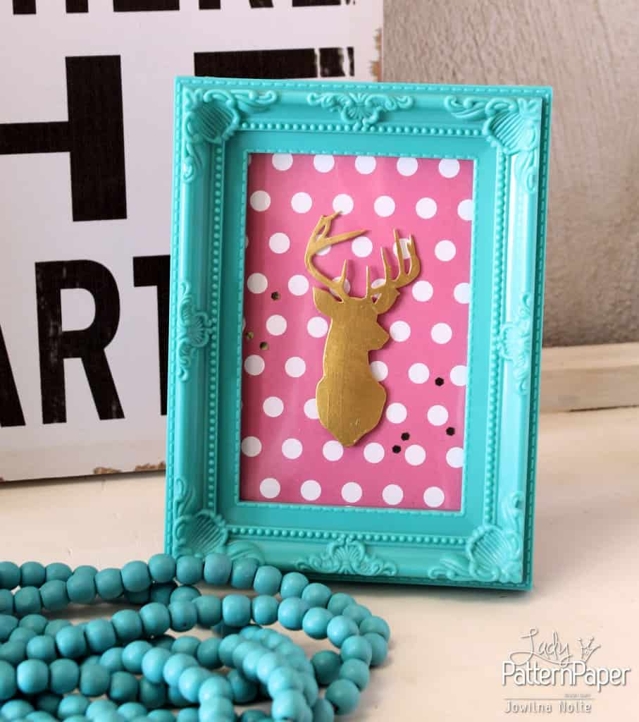 Framed Dear Art - Pink Mary Polka Dot