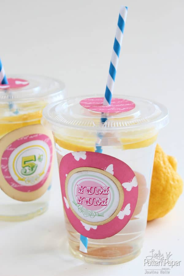 DIY Party Lemonade Cups - Yum Yum!