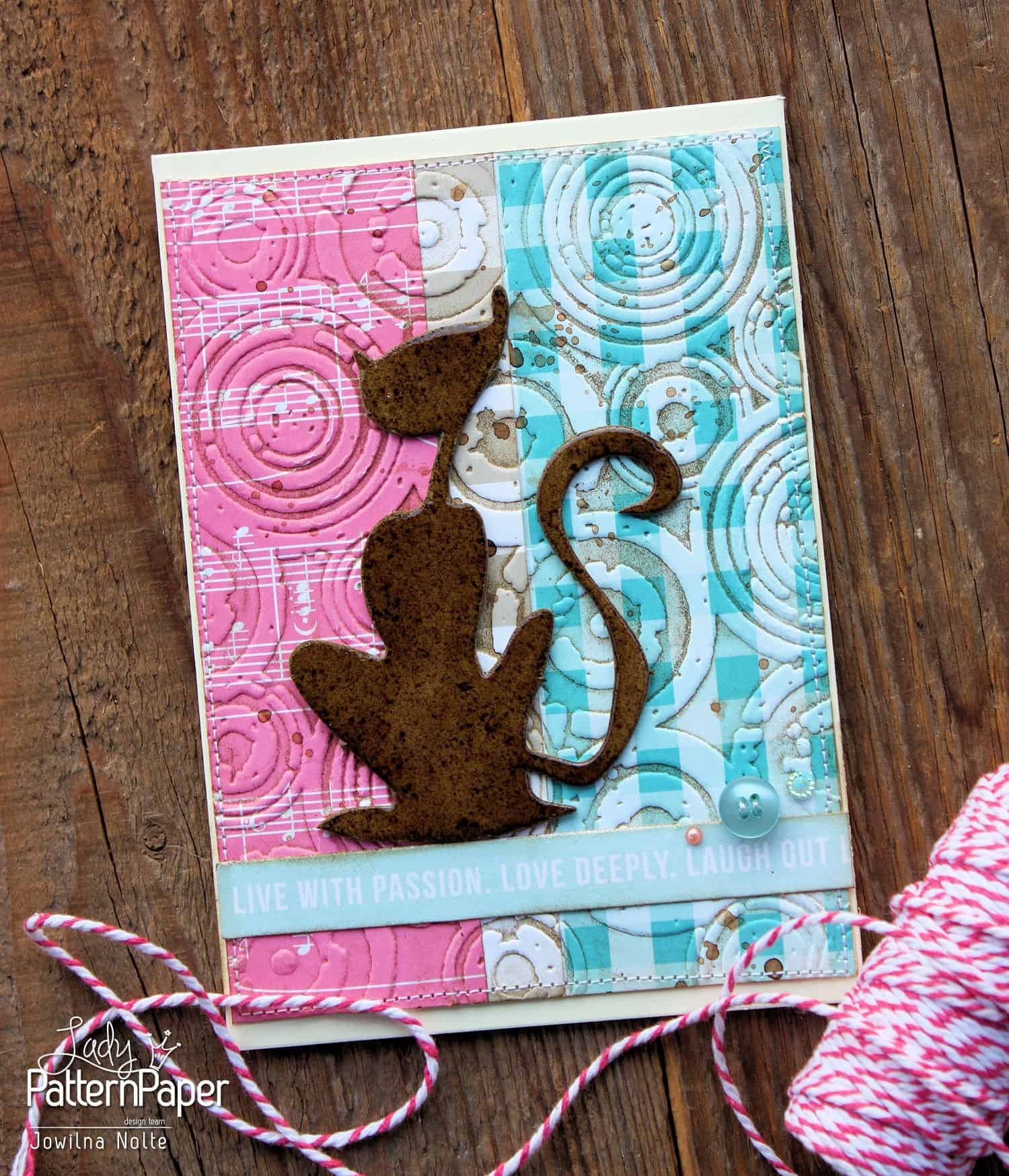 Embossed Background Card - Love With Passion