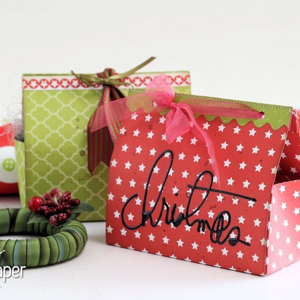 Diy Christmas Favor Boxes : Diy christmas gift boxes lady pattern paper