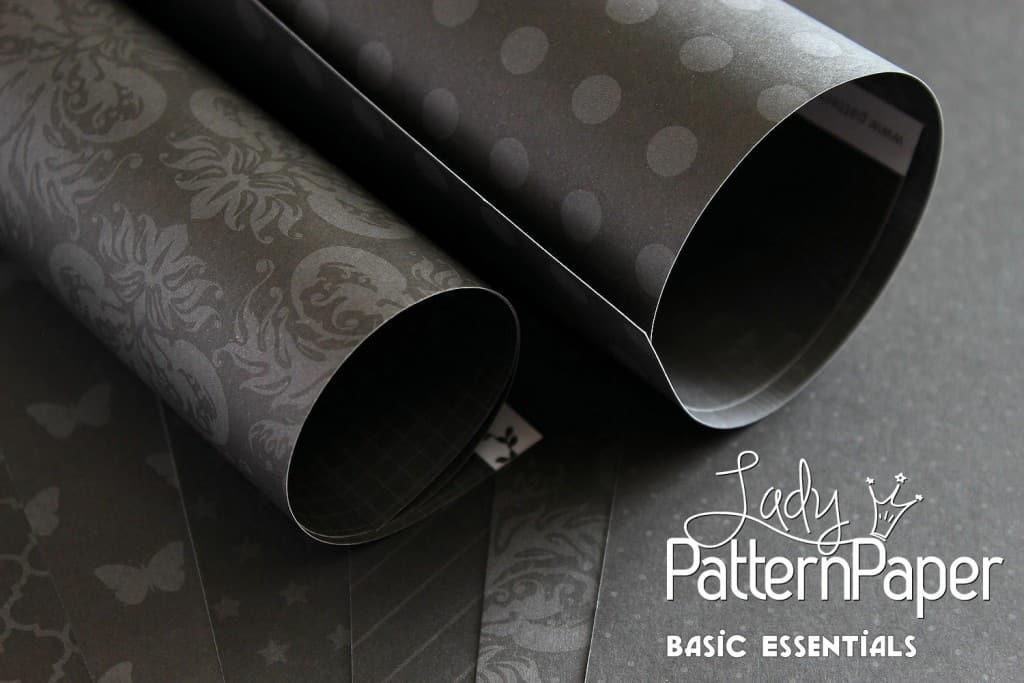 Lady Pattern Paper - Onyx Black Rolls