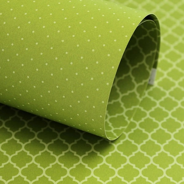 PP0017 - Basic Essentials - Moroccan Trellis - Green Chartreuse