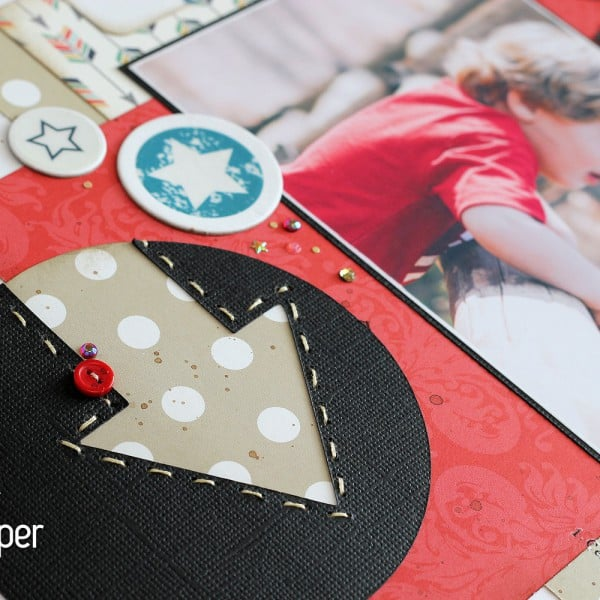 Creating Your Own Embossed Accents - Stitched Arrow