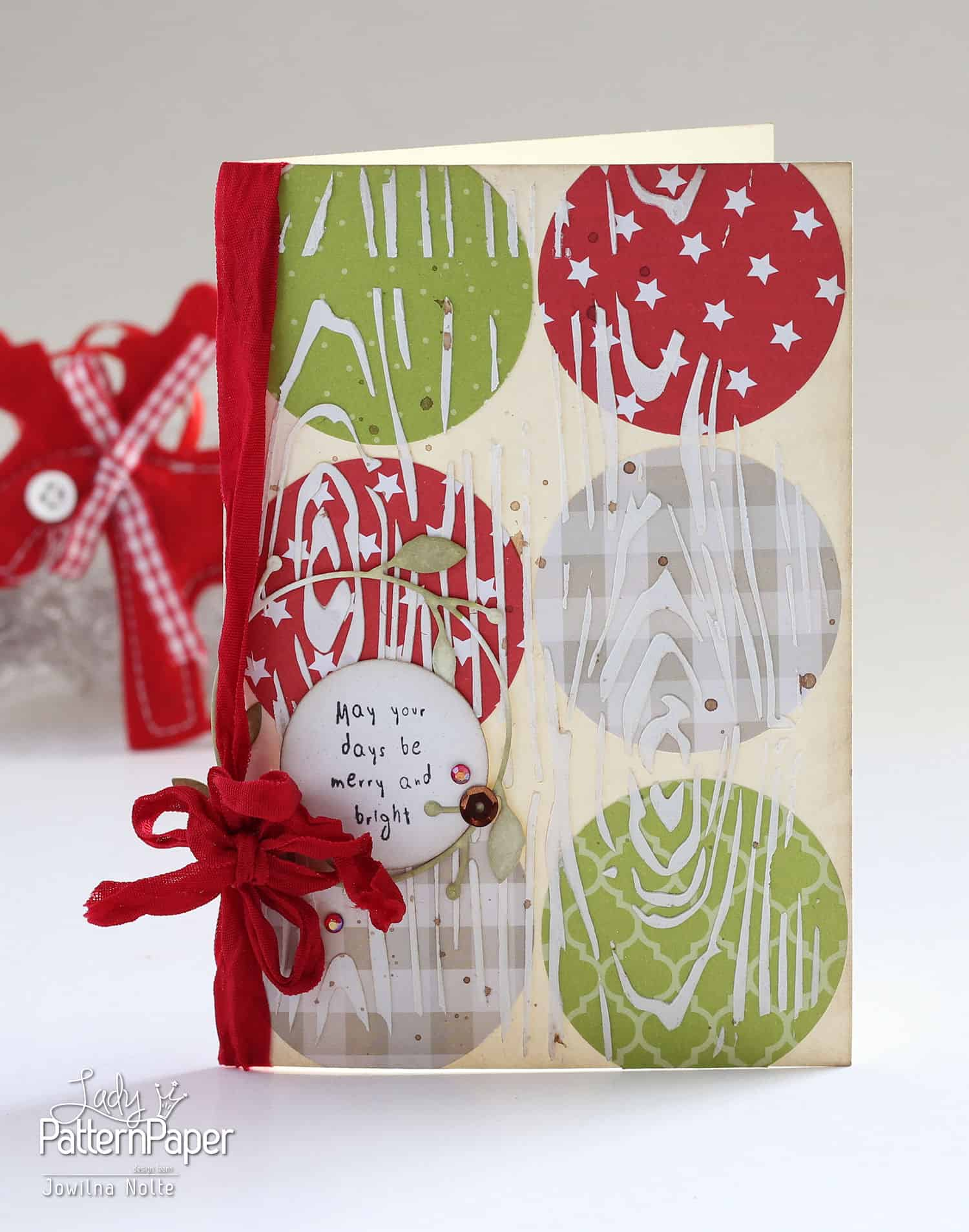 Textured Christmas Card Tutorial - Merry Bright