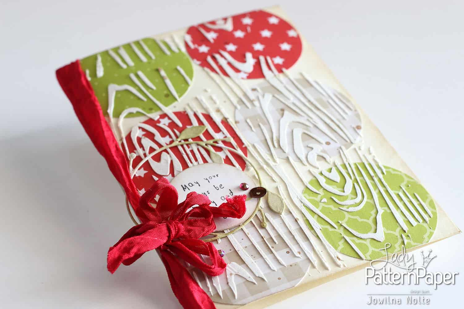 Textured Christmas Card Tutorial - Modelling Paste