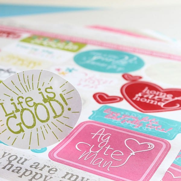 Lady Pattern Paper - Oh My Word! Sticker Sheet - Life Is Good