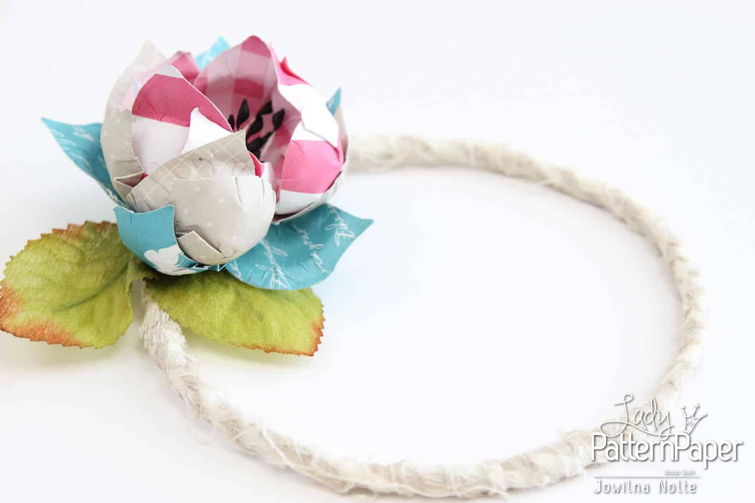Handmade Flower Wreath - Intense Teal