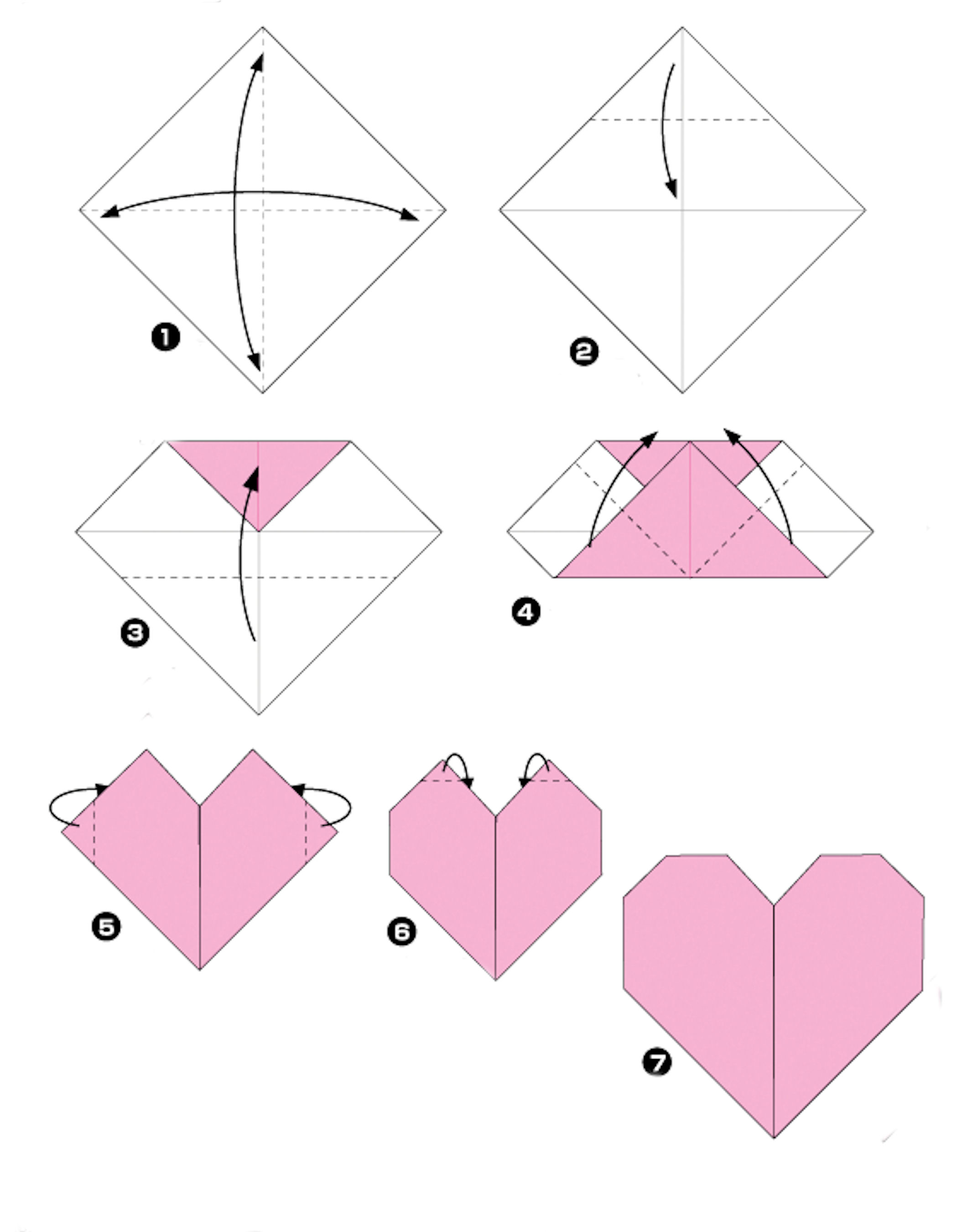 my origami heart a true story layout lady pattern