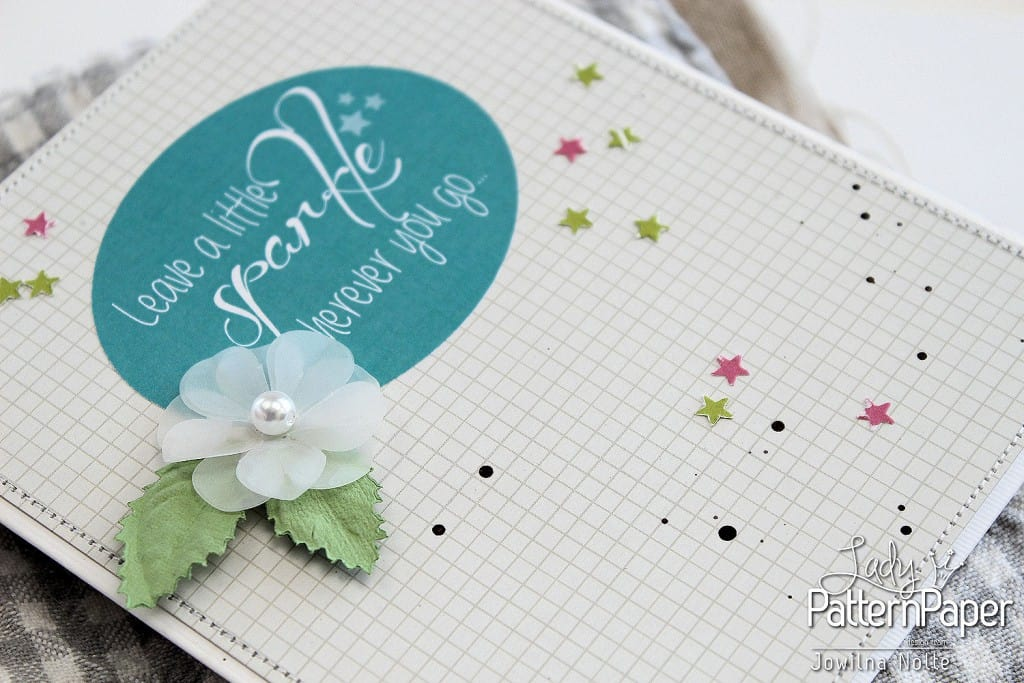 Sticker Sentiment Cards - Leave A Little Sparkle Detail