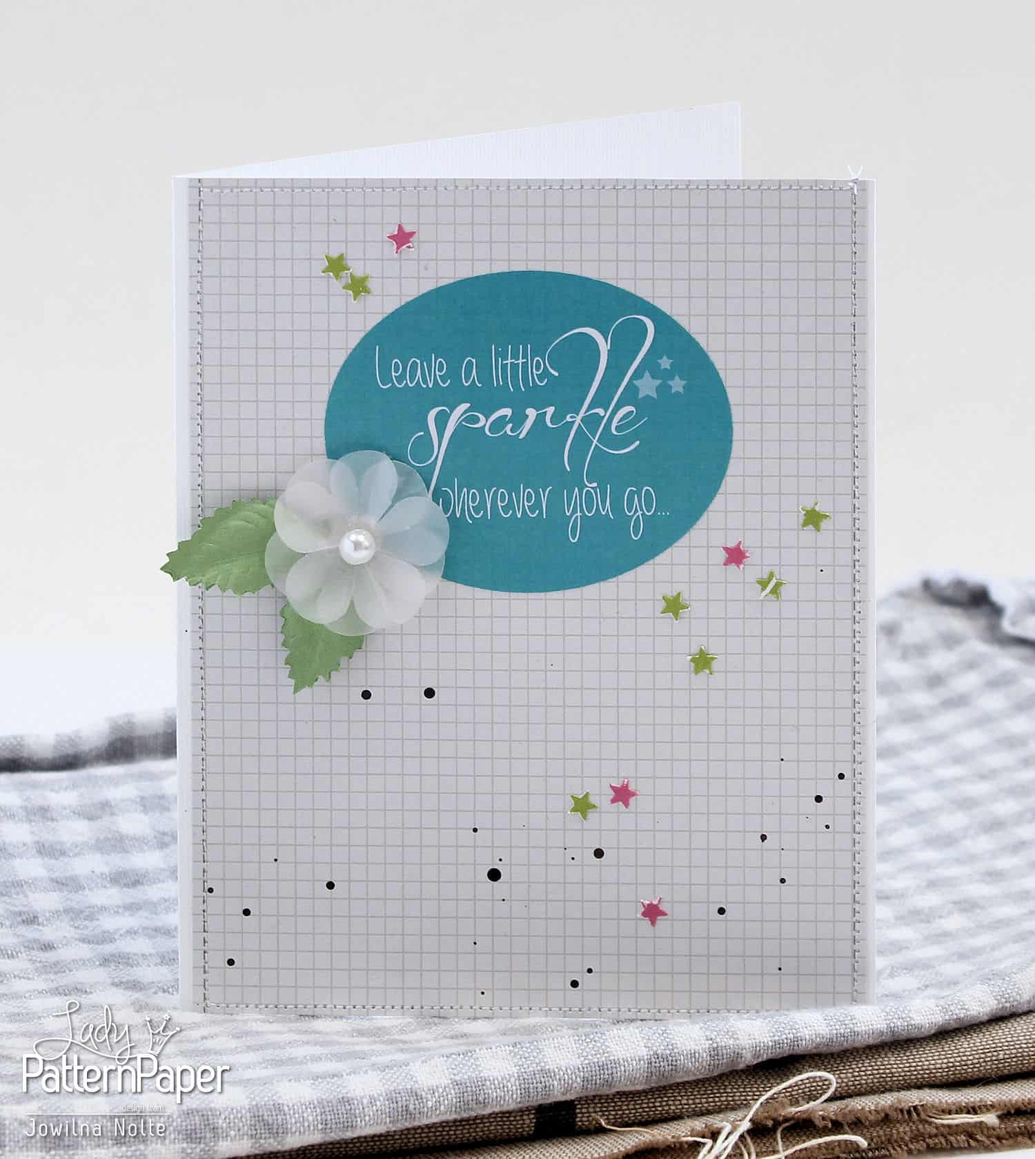 Sticker Sentiment Cards - Leave A Little Sparkle