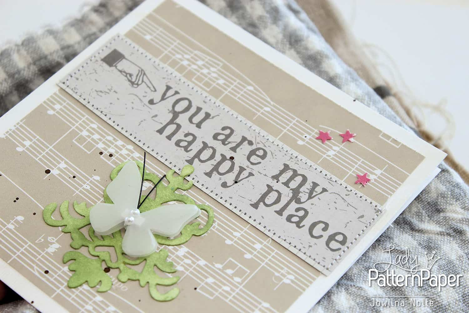 Sticker Sentiment Cards - You Are My Happy Place Detail