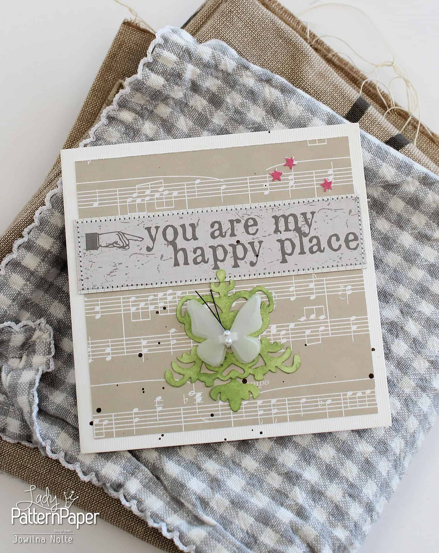 Sticker Sentiment Cards - You Are My Happy Place