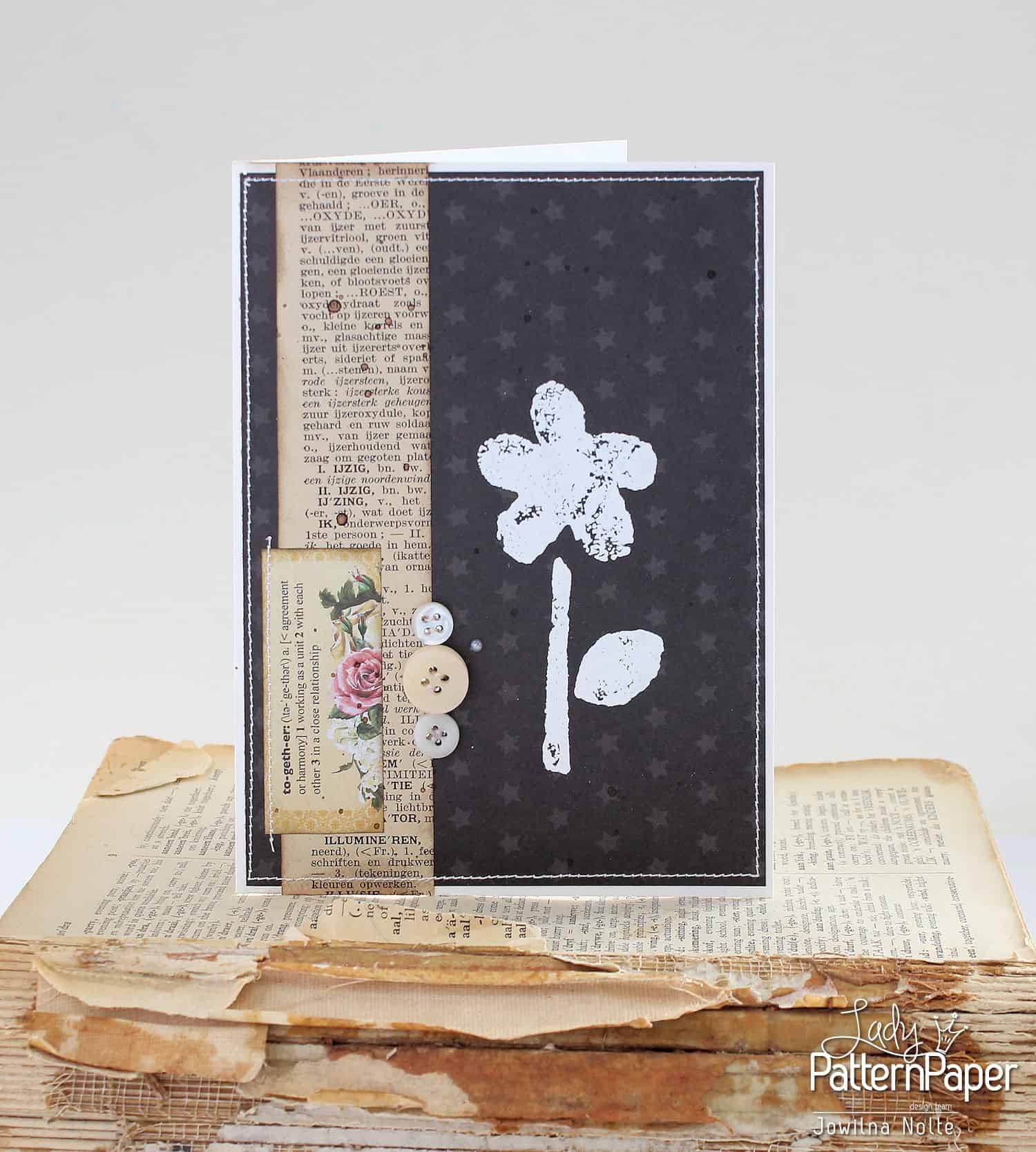 Black And White Vintage Cards - Little Star