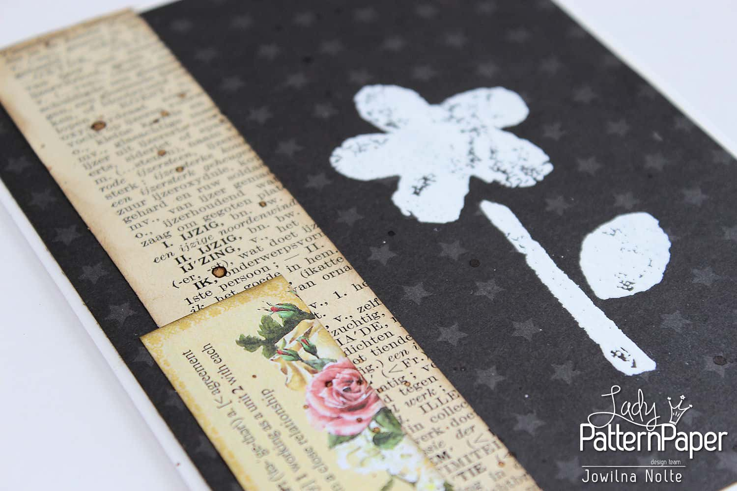 Black And White Vintage Cards - Step 2