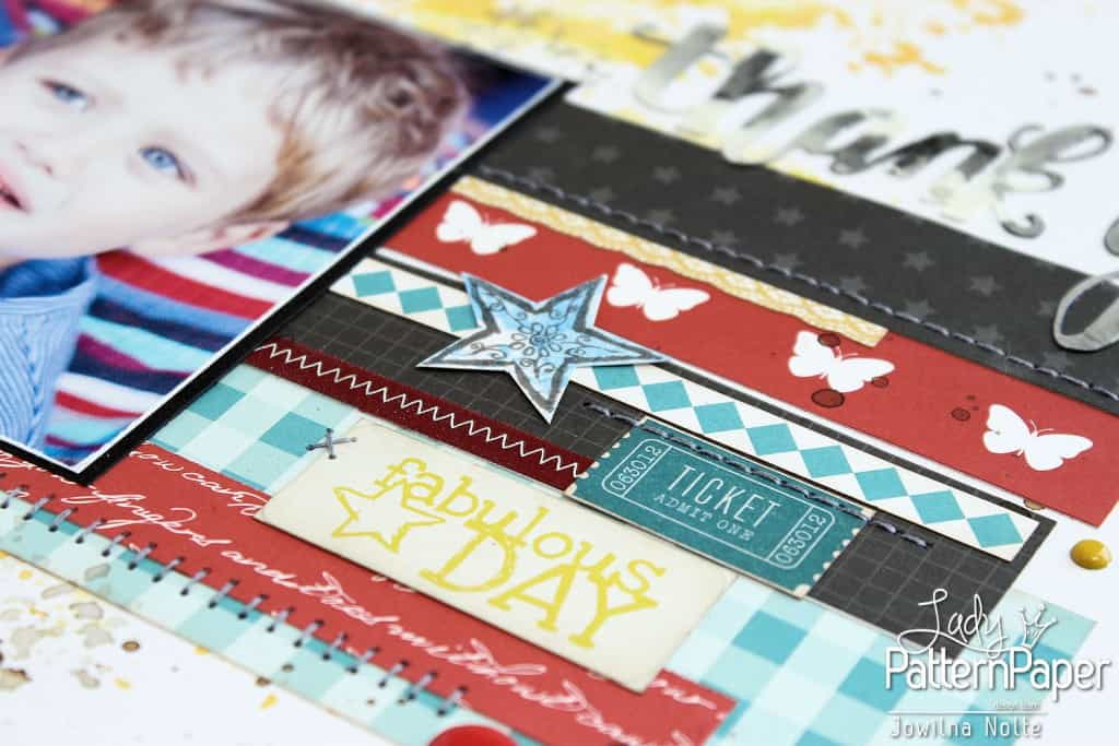 Inspired By Patterned Paper - Fabulous Day Sticker