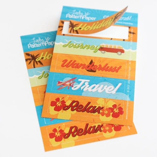 LPPS0004 - Oh my word! Sticker Sheets - Retro Holiday