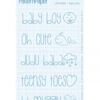 Lady Pattern Paper - Oh my word! Baby Boy - LPPS0002