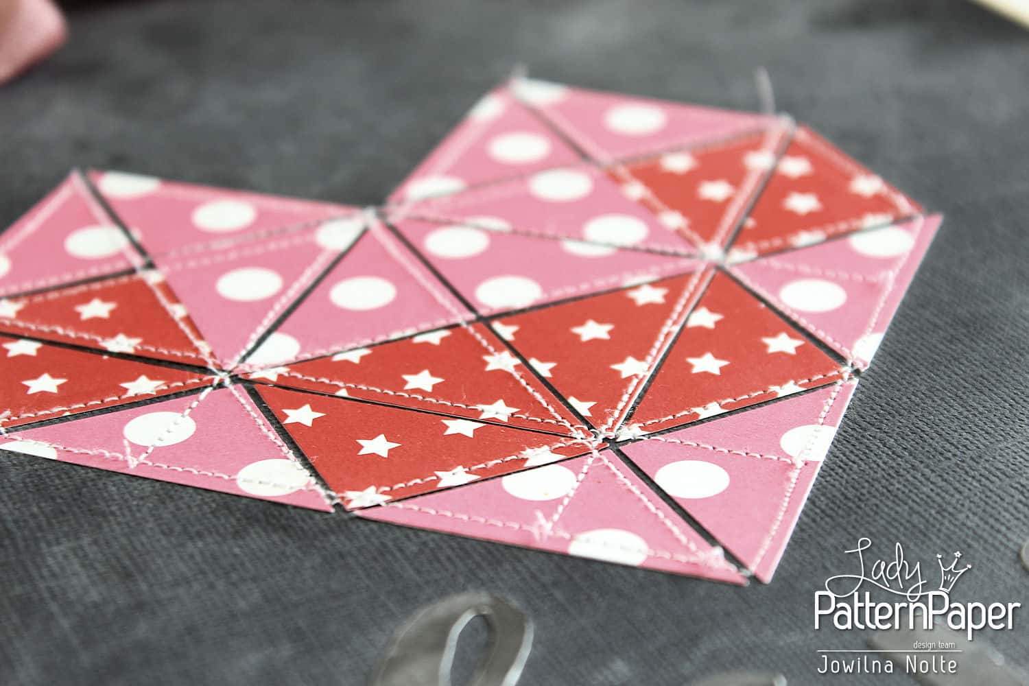 Valentine Quilted Geometric Heart