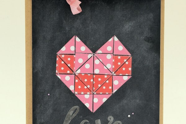Valentine Quilted Heart - Paper Crafted