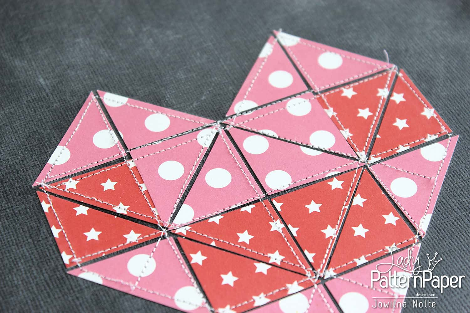 Valentine Quilted Paper Heart