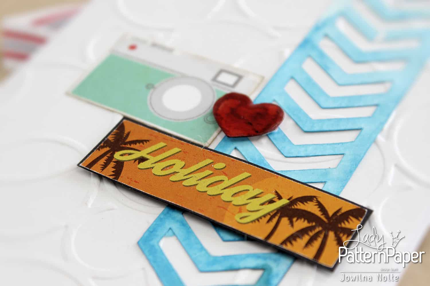 Retro Holiday Sticker Cards - Palm Trees