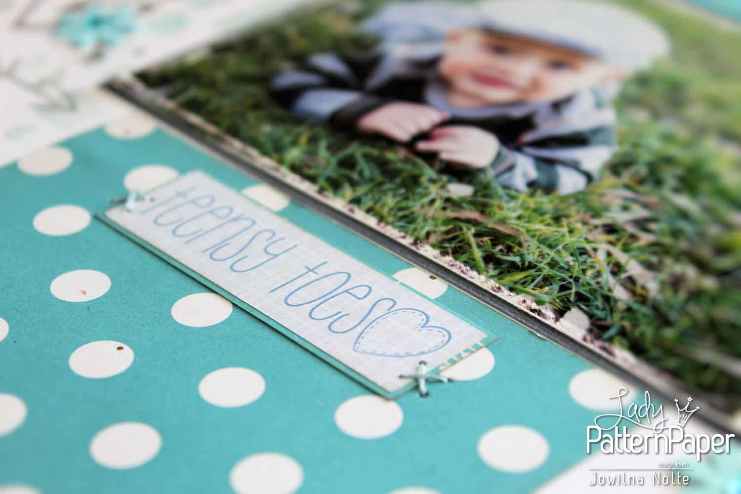 Shades Of Blue Layout - Baby Boy Sticker