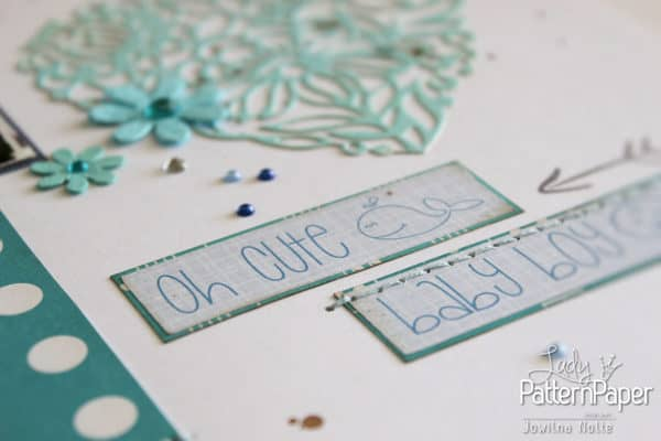 Shades Of Blue Layout - Baby Boy Stickers