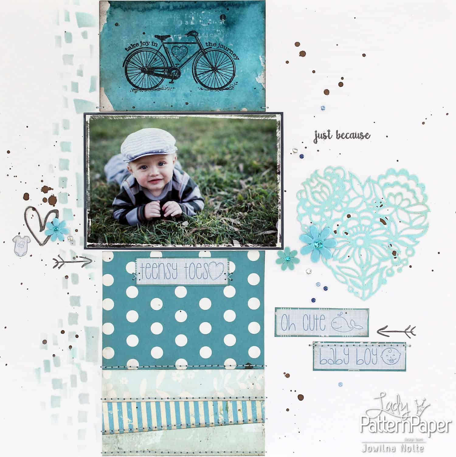Shades Of Blue Layout - Baby Boy