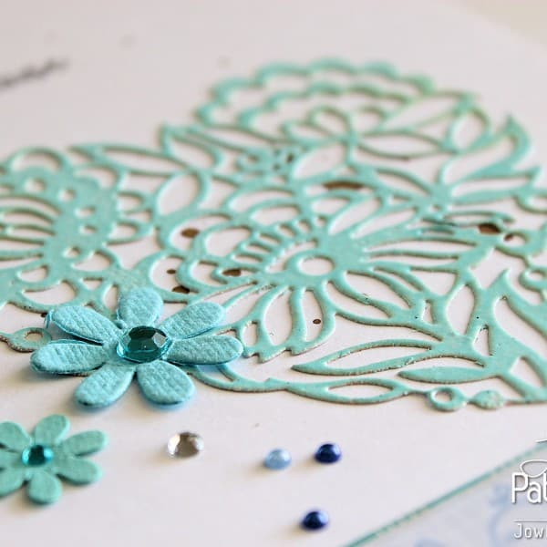 Shades Of Blue Layout - Die Cut