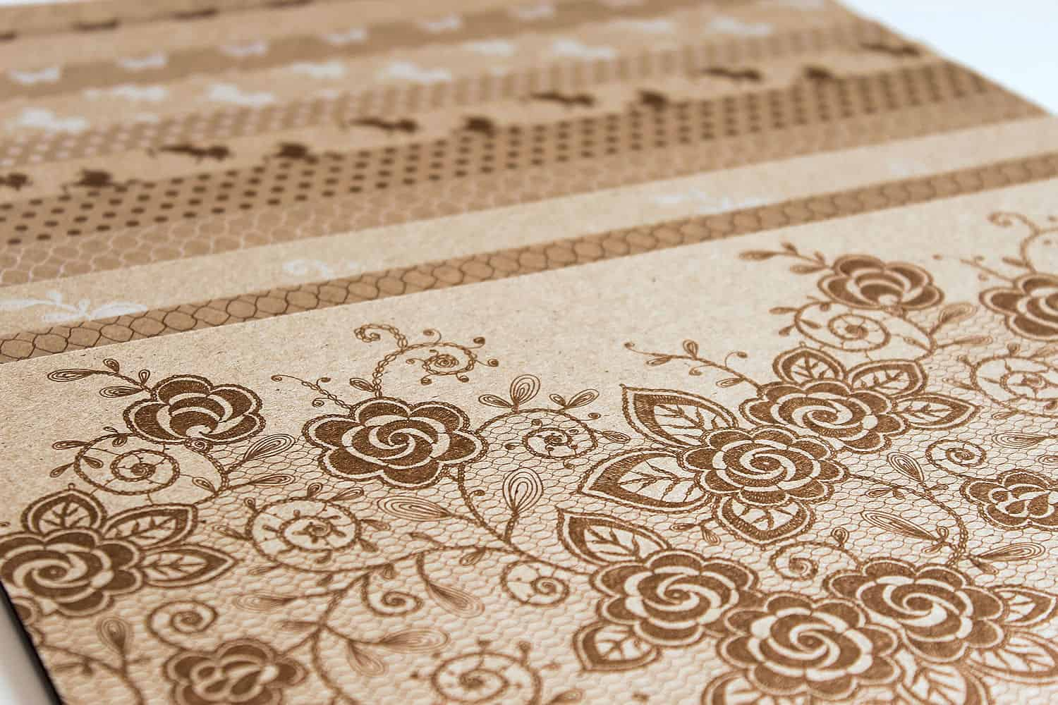 Lady Pattern Paper - Kraft Essentials - Combo Lace