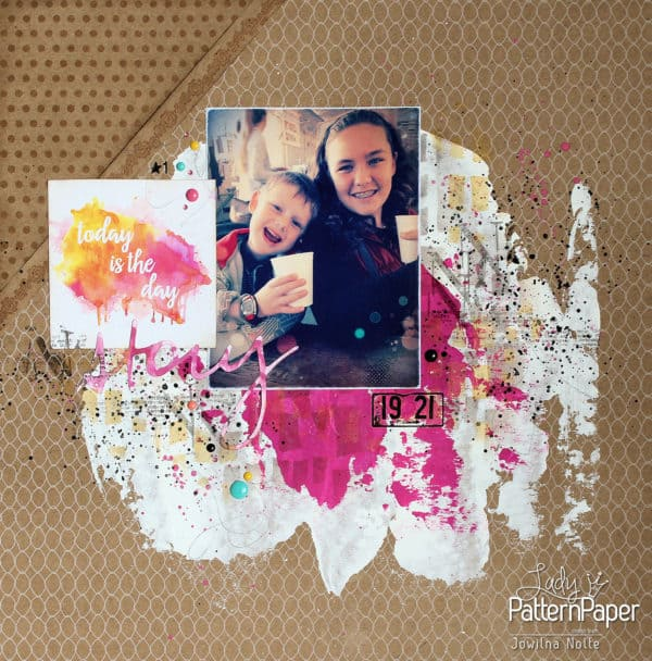 Single Page Scrapbook Layout - Kraft Today