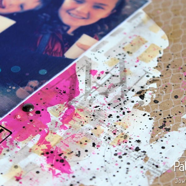 Single Page Scrapbook Layout - Mesh