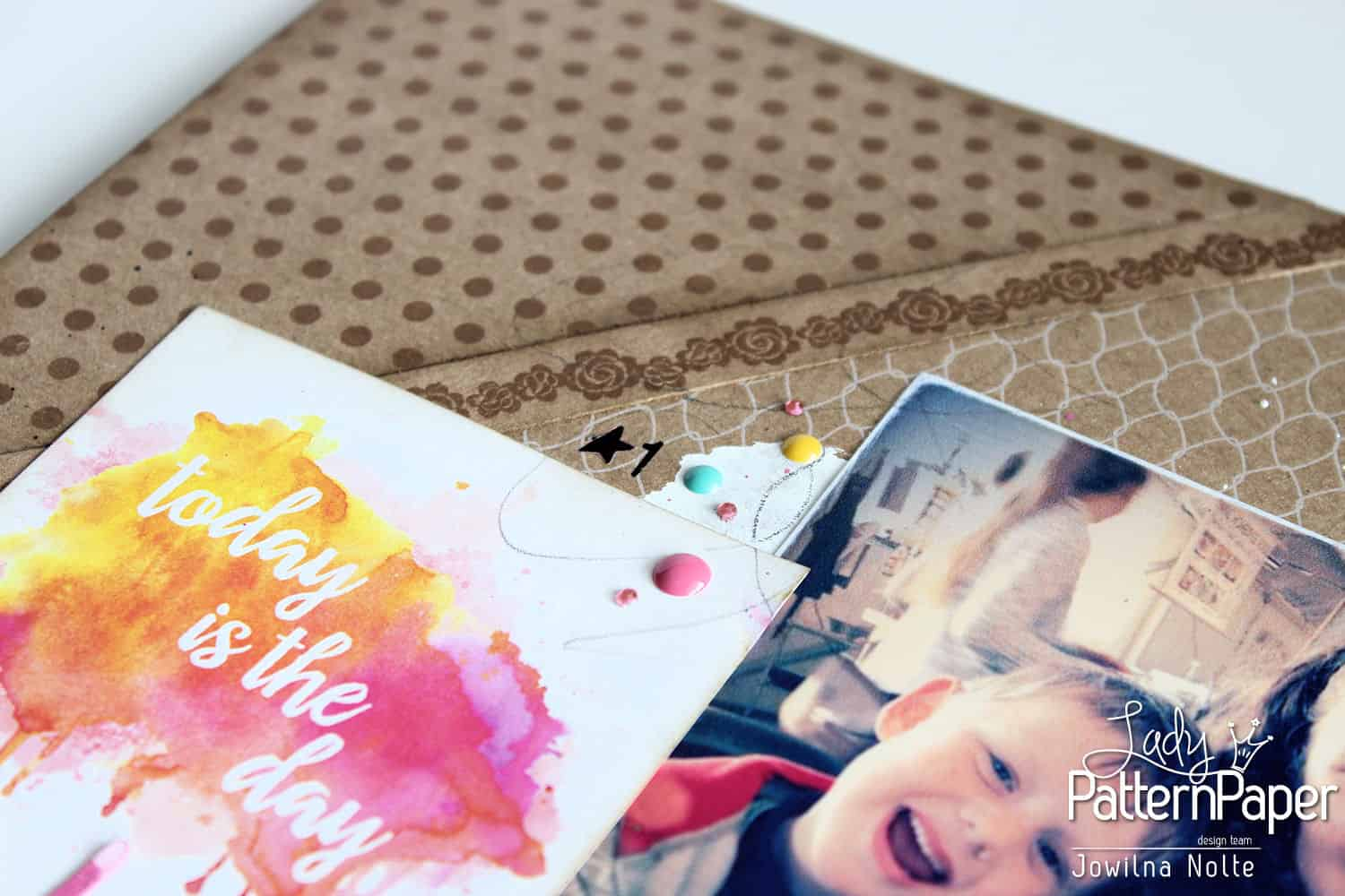 Single Page Scrapbook Layout - Smile