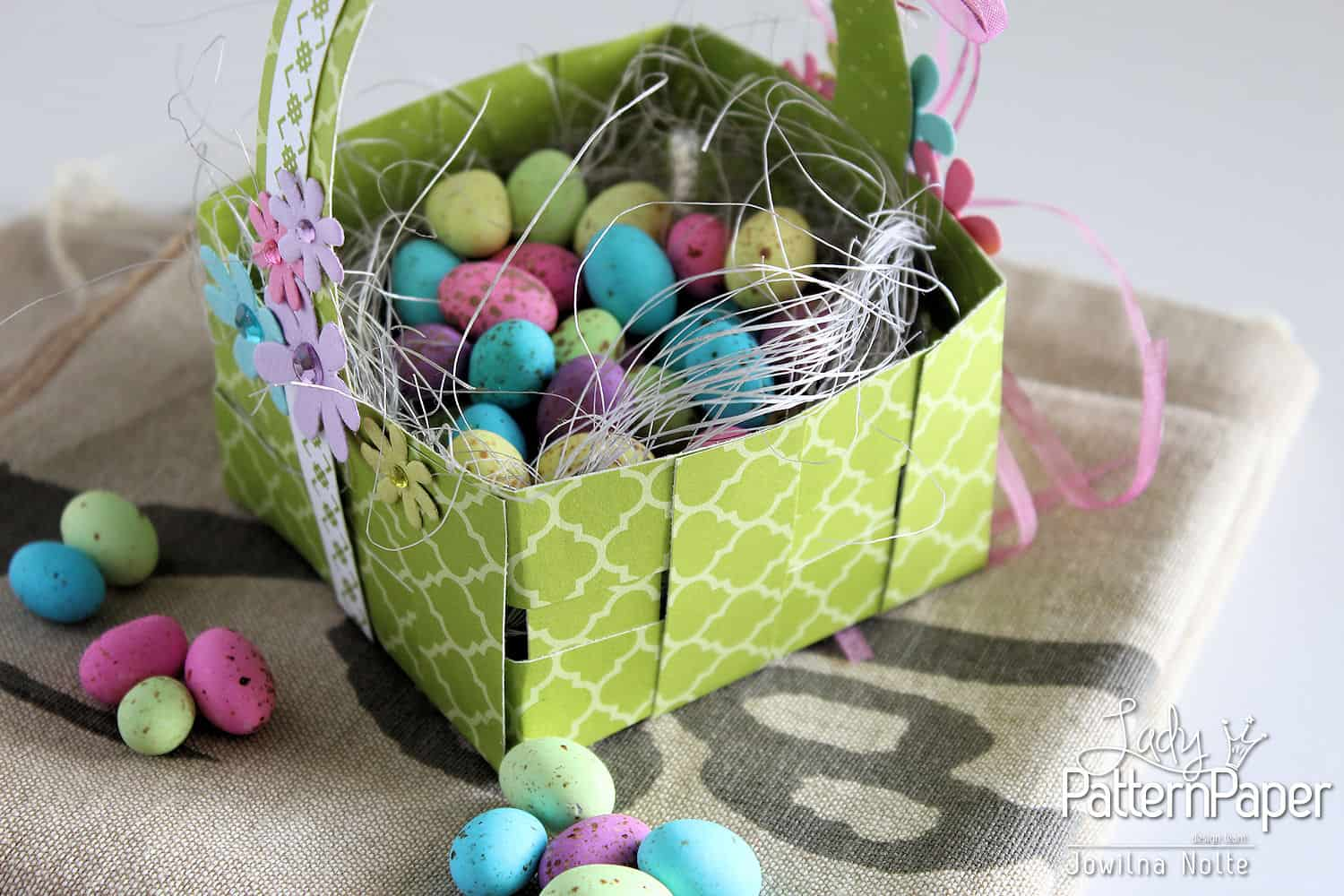 Handmade basket patterns : Woven easter basket easy step by lady pattern
