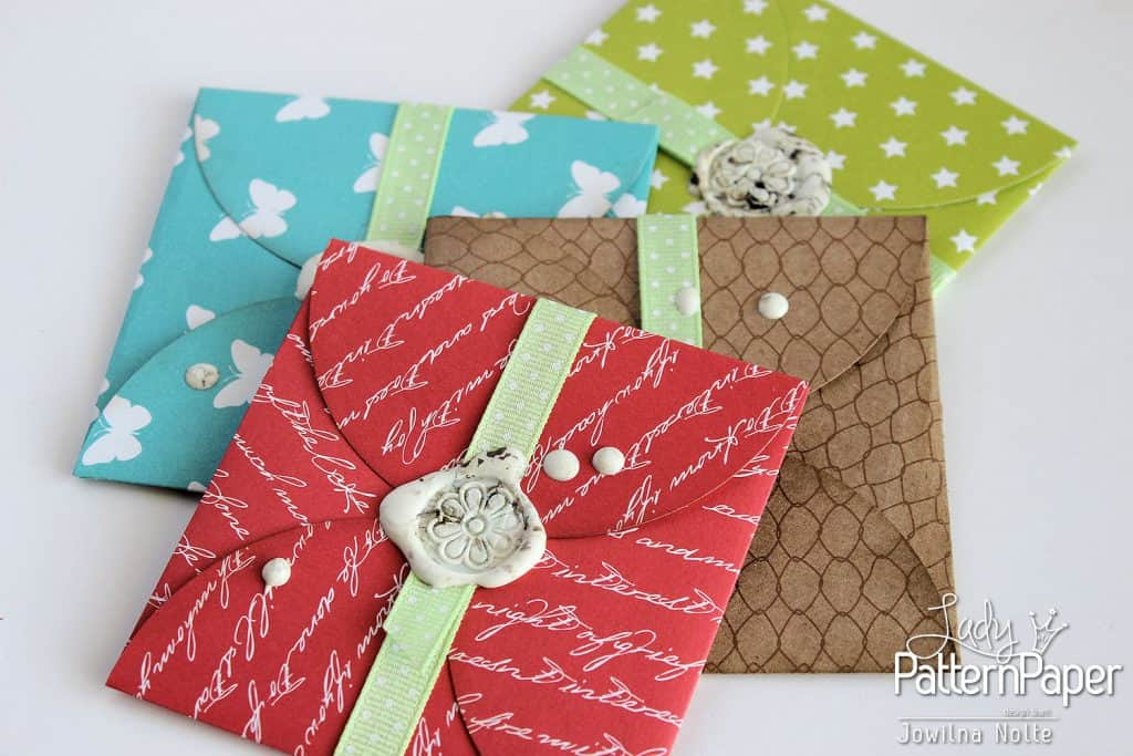 Handmade Gift Card Envelopes - Red Pop