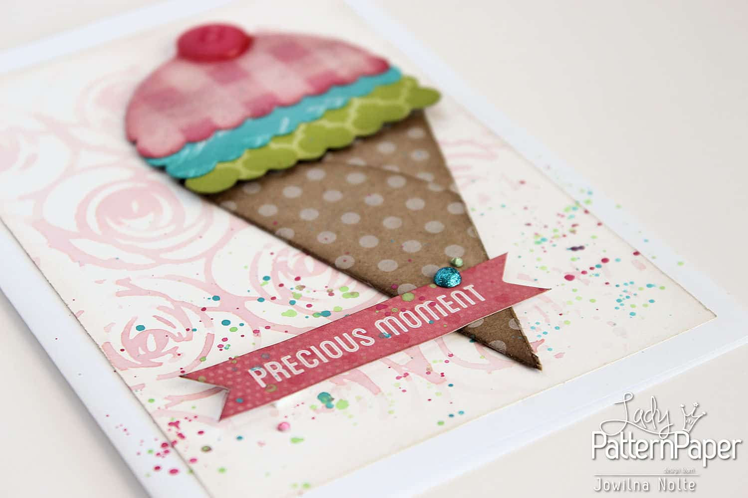 Punched Shaped Card - Precious Moment