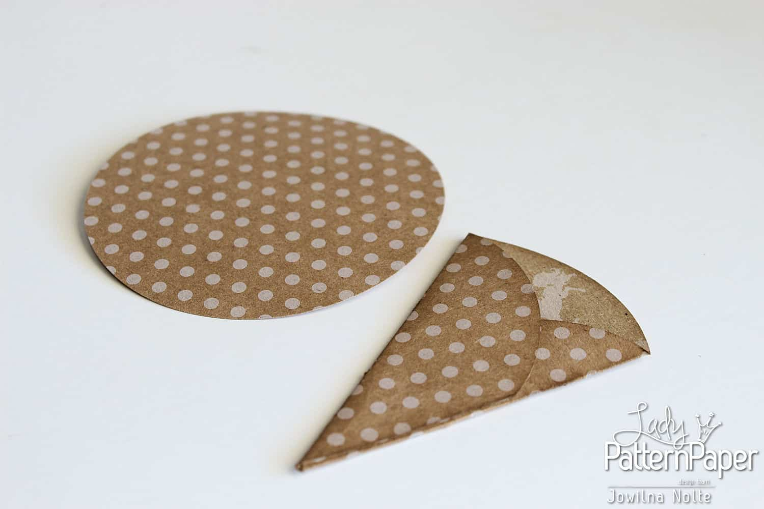 Punched Shaped Card - Step 1