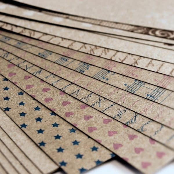 Lady Pattern Paper - Kraft Essentials Paper Pack