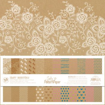 Lady Pattern Paper - Kraft Essentials Paper Pack - LPPB0005