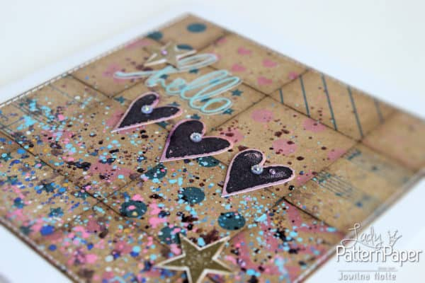 Handmade Quilted Kraft Card - Star
