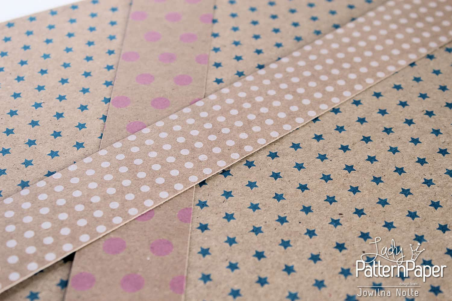Handmade Quilted Kraft Card - Step 1
