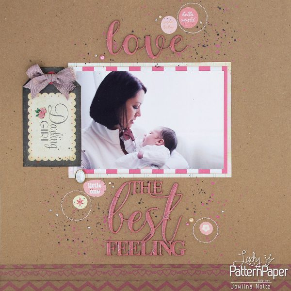Kraft Love Baby Layout - Single Page