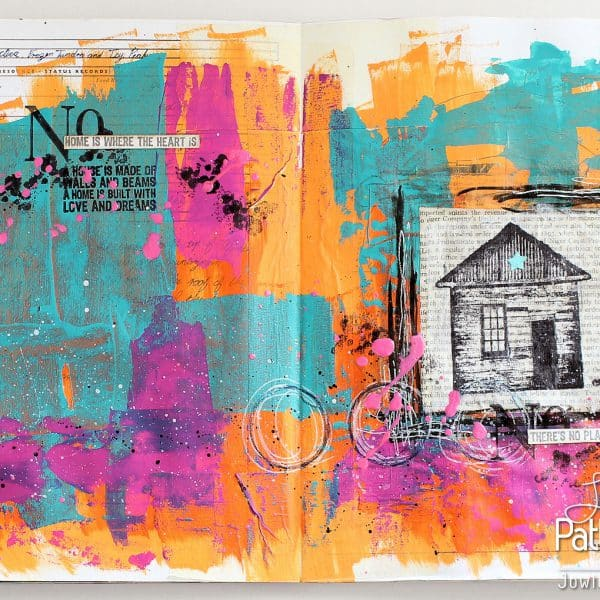 Beautiful Art Journaling Page