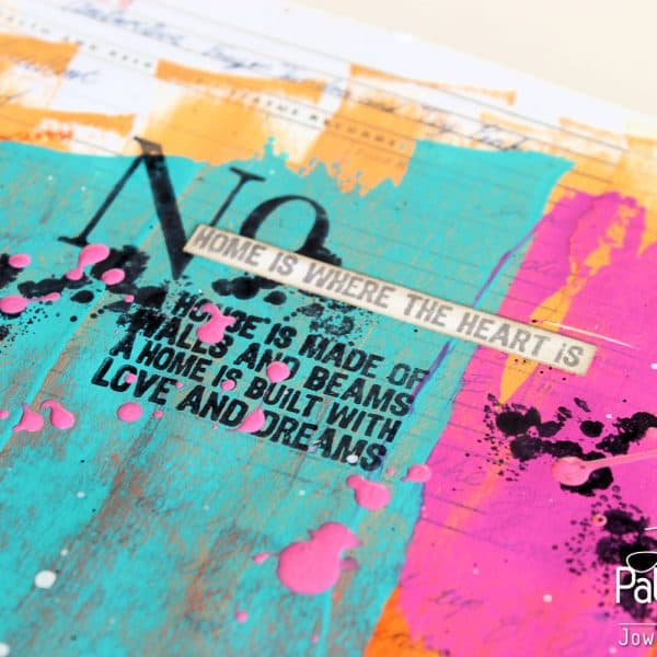 Art Journaling Page - Inky