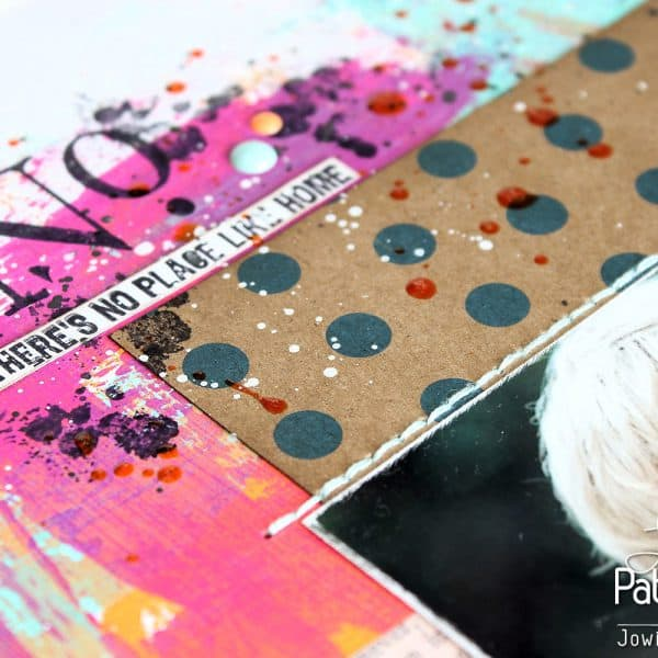 Art Journaling Page - Layout - Polka Dot