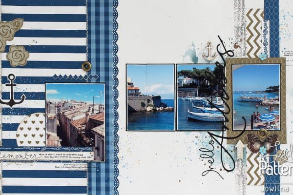 Lady Pattern Paper - Dazzling Blue - Jowilna Layout