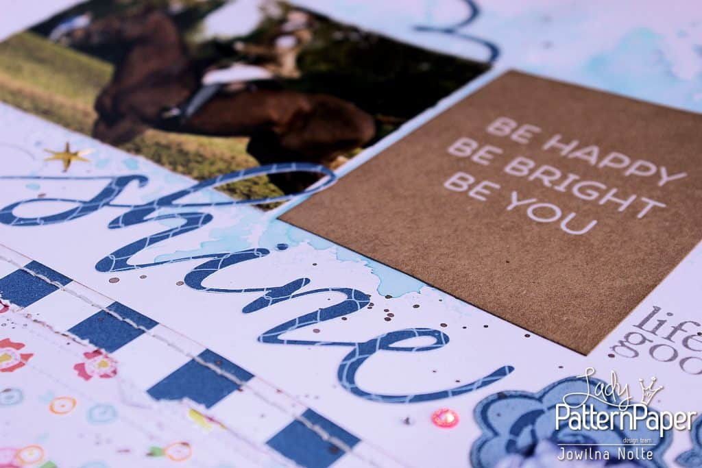 Dazzling Blue Die-Cut Elements - Kraft