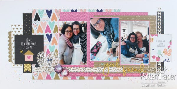 Scrapbook Layout - Girlfriends